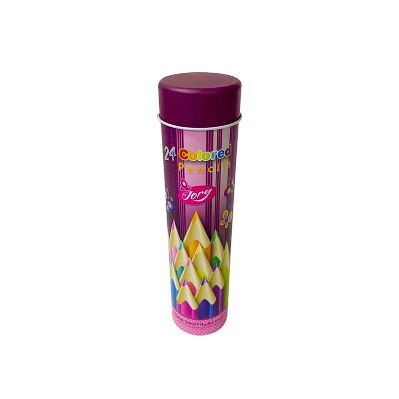 Custom Printing 36pcs Color Pencil Tin Metal Container YB06