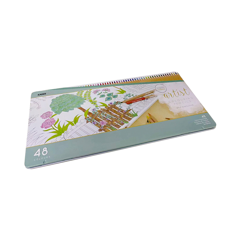 Pressed Seamless Tin Can Colour Pencils Metal Box YA009
