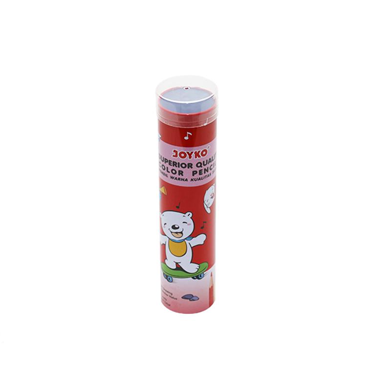 Wholesale Custom Printing 24pcs Color Pencil Tin Metal Container Plastic Cover YB04
