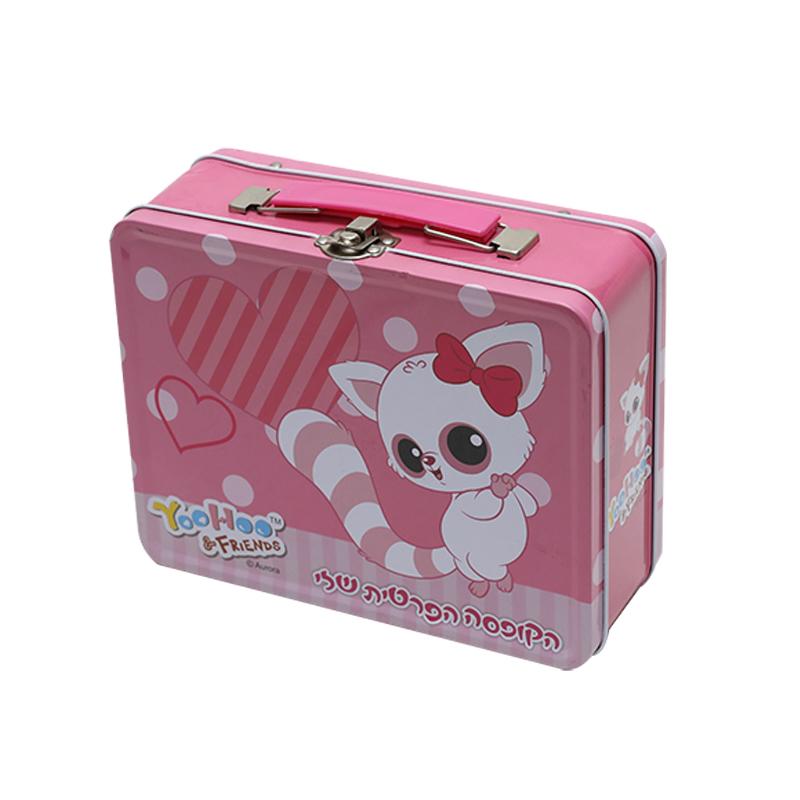 Wholesale Custom Printing Rectangle Tin Metal Box For Kids Toy YE96