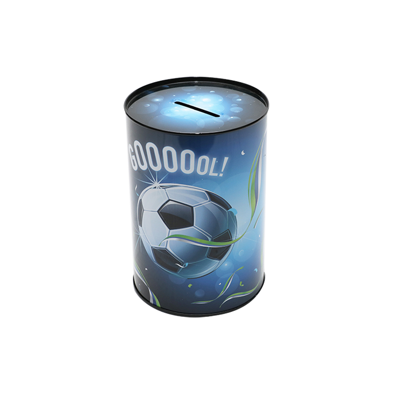 Wholesale Custom Printing Round Tin Metal Cash Can For Kids Saving Money YC10