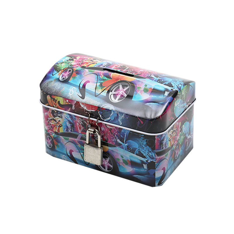 Wholesale Custom Printing House-Shaped Tin Saving Money Coin Box Can With Key And Lock YC23