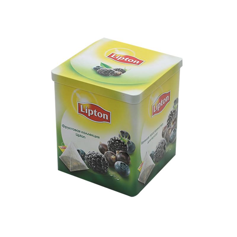 Wholesale Custom Printing Square Tin Metal Box For Drink YE97