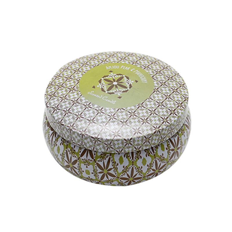 Wholesale Custom Printing Round Tin Metal Container Can For Candles YE77