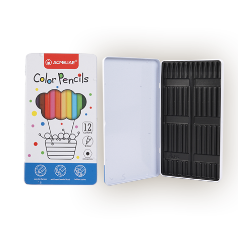 Color pencil tin box
