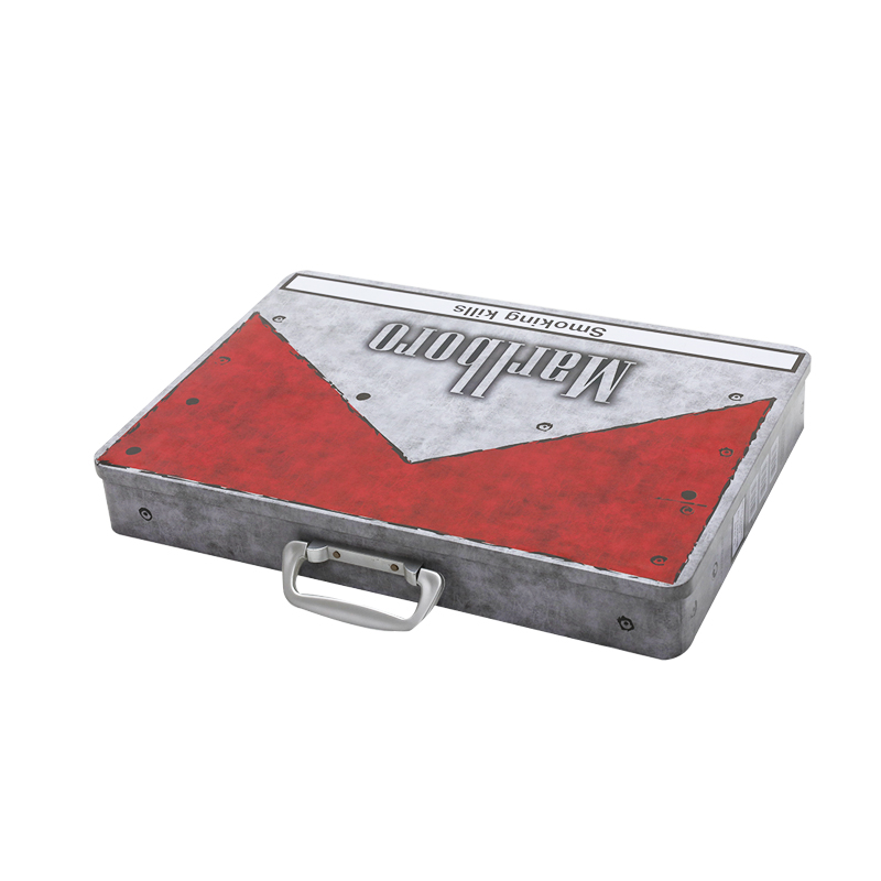 Rectangular tin Tobacco portable box YE113
